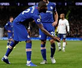 Rüdiger recibió insultos racistas en el Tottenham-Chelsea. AFP