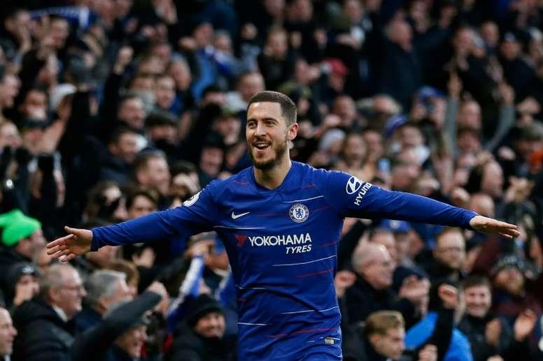 Hazard has 13 Premier League goals this season. AFP