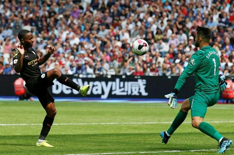 Sterling treble fires Man City in VAR-dominated game. AFP