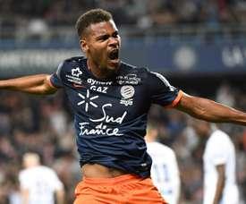 Mounie a déjà inscrit deux buts en Premier League. AFP