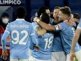 La Lazio metió cuarta y mete presión por la zona Champions. AFP