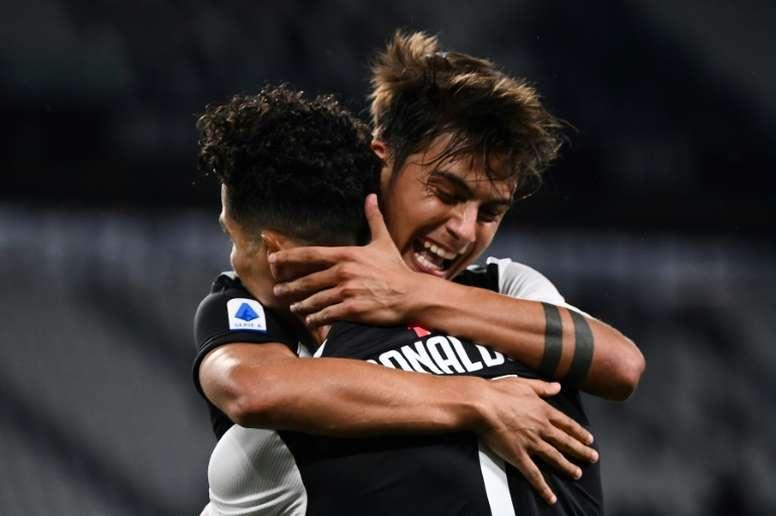 Dois anos dessa parceria goleadora na Juventus. AFP