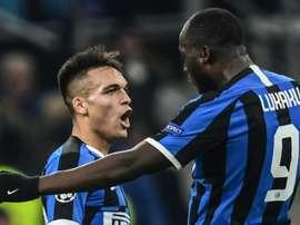 Lautaro Martinez, segundo seu agente, só pensa na Inter. AFP