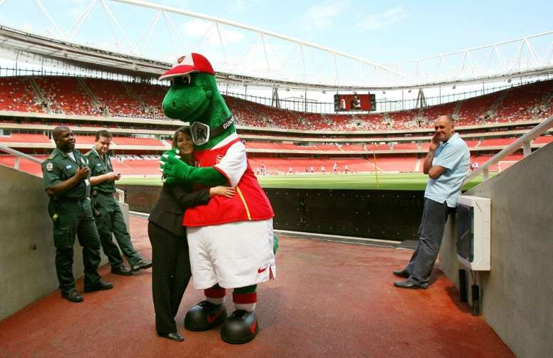 Ozil has stepped in to save Gunnersaurus. AFP