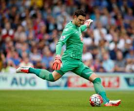 Southampton's Alex McCarthy was called up to the England squad by Gareth Southgate this week. AFP