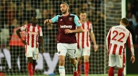 El delantero milita en el West Ham. AFP