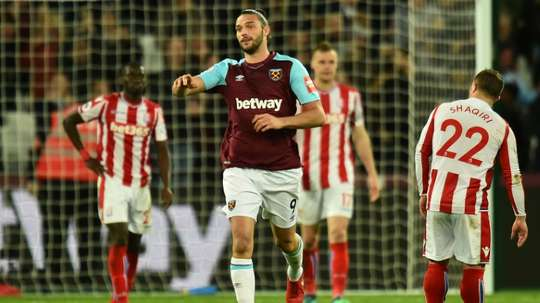 Andy Carroll has been sidelined with an ankle injury. AFP