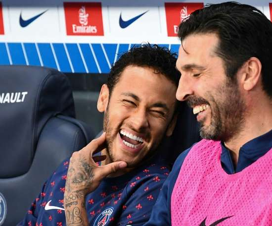 Buffon once again spoke very highly of ex-teammates Neymar and Mbappe. AFP
