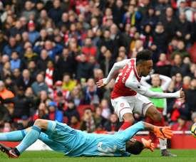 O Arsenal venceu na receção ao Watford, por 3-0. AFP