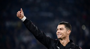 Cristiano Ronaldo sufre de molestias. AFP