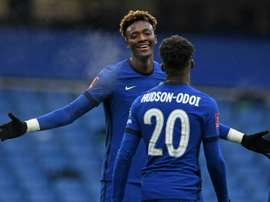 Tammy Abraham got a hat-trick to send Chelsea into the last 16 of the FA Cup. AFP