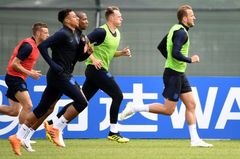 The England squad were fully instructed. AFP