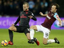 Edmilson has been pushed out of the team by Jack Wilshere and Mark Noble. AFP