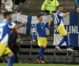 Kosovo se impuso 0-3 a Albania en un amistoso. AFP/Archivo