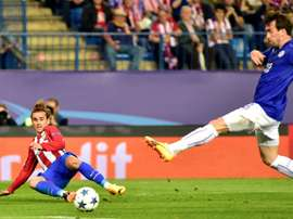 Fuchs in awe of Atletico's amazing Griezmann. AFP