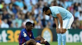 Dembélé no llega a la final de Copa. AFP