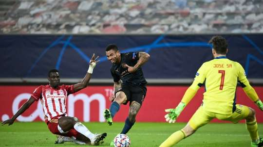 Man City got an easy 0-1 victory at Olympiakos in the Champions League. AFP