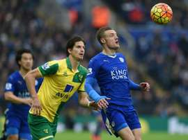 Timm Klose (L) was full of praise for his teammates after Norwich City's comeback. AFP