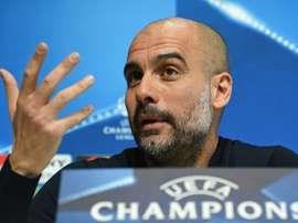 Guardiola aprovechó que la eliminatoria estaba sentenciada para dar minutos a sus promesas. AFP