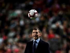 Shevchenko quer voltar ao Milan como treinador. AFP