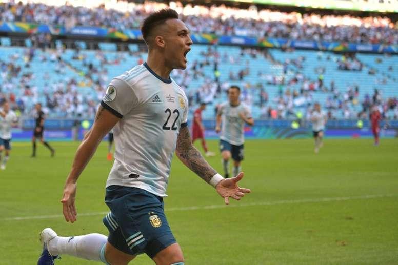 Martinez, Aguero goals send Argentina into Copa America quarters. AFP