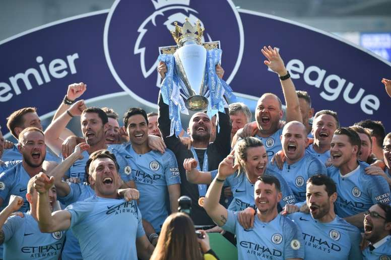 Manchester City lifted the Premier League title this season. AFP