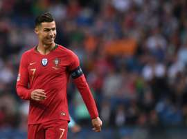 Cristiano es el gran referente de la Selección de Portugal. AFP/Archivo