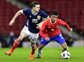The Scotland international will stay at Rangers on a permanent basis. AFP