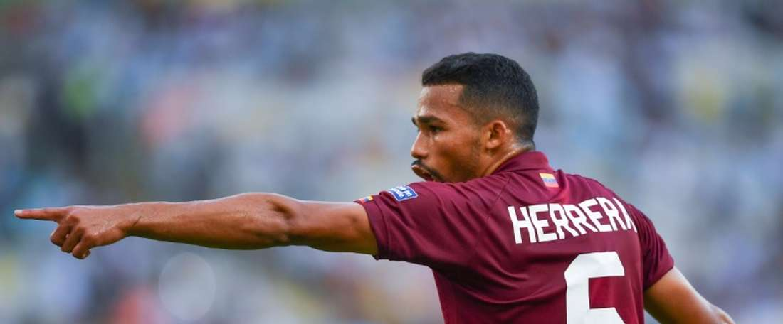 Manchester City have loaned midfielder Yangel Herrera to Granada for the season. AFP