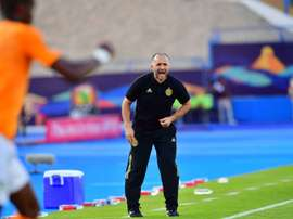 Djamel Belmadi has Algeria within sight of a second Africa Cup of Nations triumph. AFP