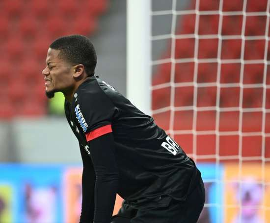 Leverkusen were held. AFP