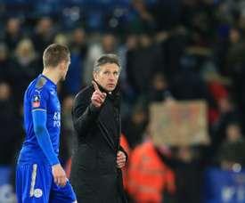 Vardy was key to Leicester's turnaround. AFP