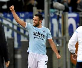 A Lazio venceu o Dínamo de Kiev por 0-2. AFP