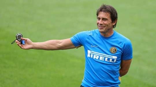 Conte elogiou o Real Madrid, a quem vê como favorito do grupo. AFP