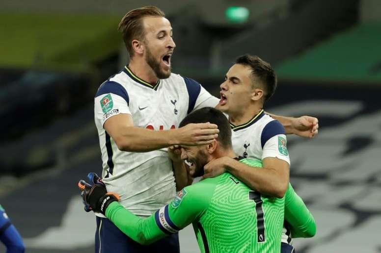 Tottenham went through to the Carabao Cup quarter-finals on penalties. AFP