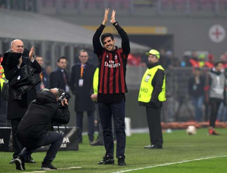 Kaká pudo volver a Italia. AFP