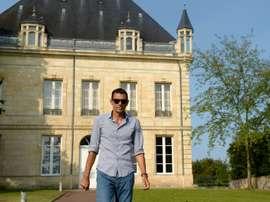 Poyet leaves Bordeauxs training ground on Friday morning. AFP