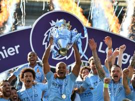 O City poderá participar das próximas edições da Champions League. AFP