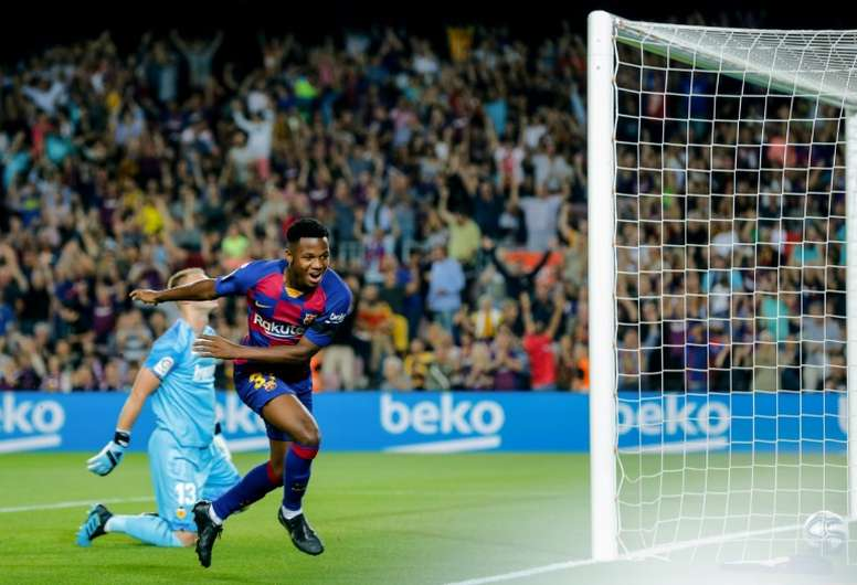 Ansu Fati's story to reach Barcelona is a fantastic one. AFP