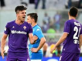 Gio Simeone se rapproche de la Sampdoria. AFP