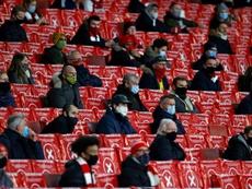 Arsenal won as fans returned. AFP