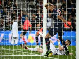 Choupo-Moting is sorry for preventing a PSG goal in comical fashion. AFP