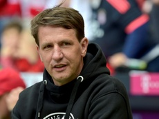 Stendel lost his opening game as Hearts manager. AFP