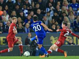 Liverpool were dumped out of the EFL Cup by Leicester. AFP