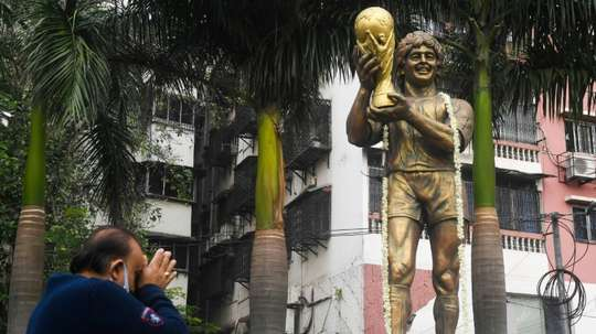 India football stronghold mourns 'Our God' Diego. AFP