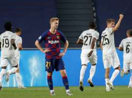 La chute du football espagnol. AFP