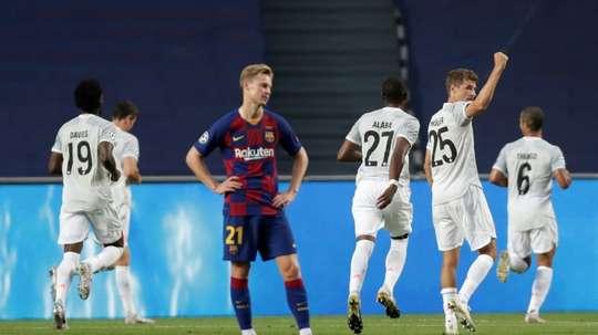 Bayern beat Barcelona 8-2. AFP