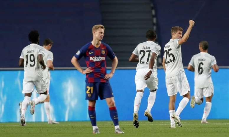 Bayern Munich destroyed Barcelona in their Champions League quarter-final in Lisbon, winning 8-2