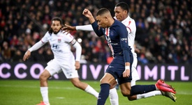 Mbappé et Marquinhos ont échangé après le match contre Bordeaux. AFP