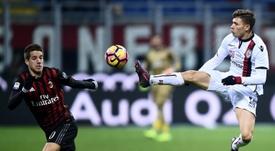 Nicolò Barella, decidido a hacer las maletas con rumbo al Inter de Milán. AFP